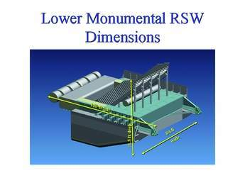 Lower Monumental RSW Dimensions