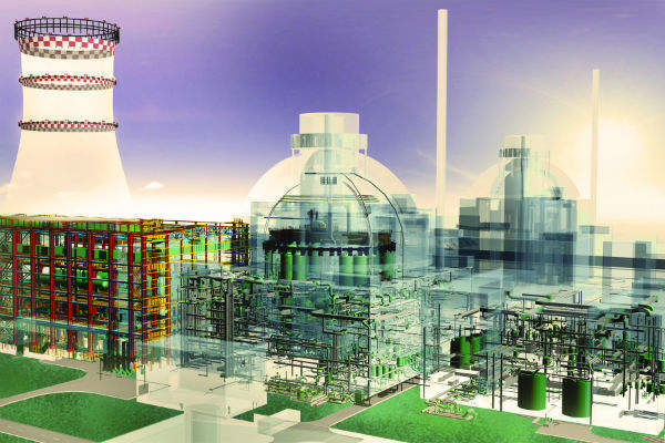 3D model of a nuclear power plant