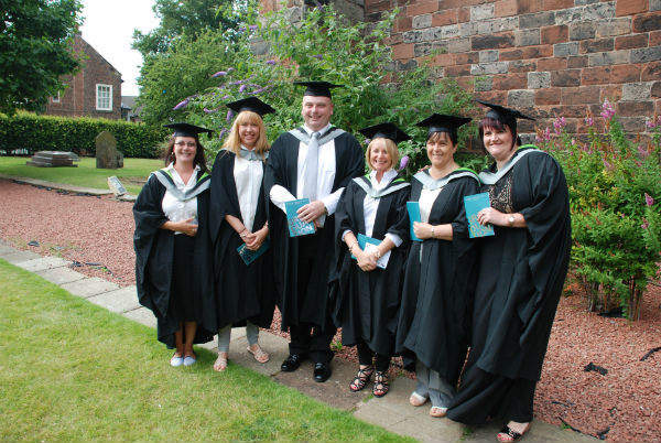 The first cohort of graduates from the University of Cumbria Degrees in Radiation Protection