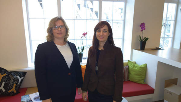 Rebecca Holyhead (left) and Miranda Kirschel (right), founders of the UK chapter of Women in Nuclear