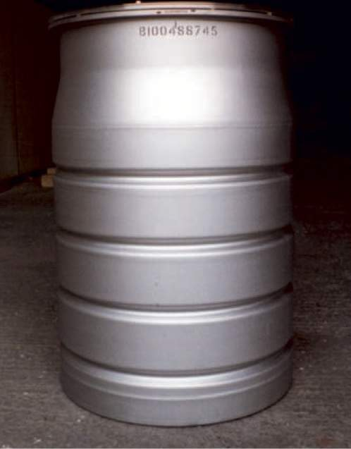 Unshielded 500 litre drum