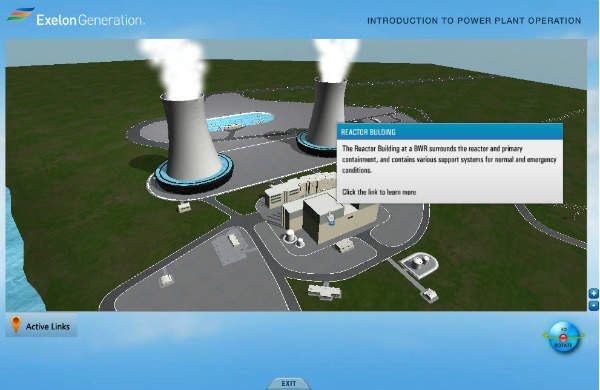 Screen shot from Exelon's Introduction to Power Plant Operations (IPPO) interactive computer-based training course