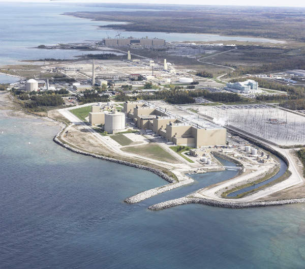 Bruce nuclear power plant in Ontario