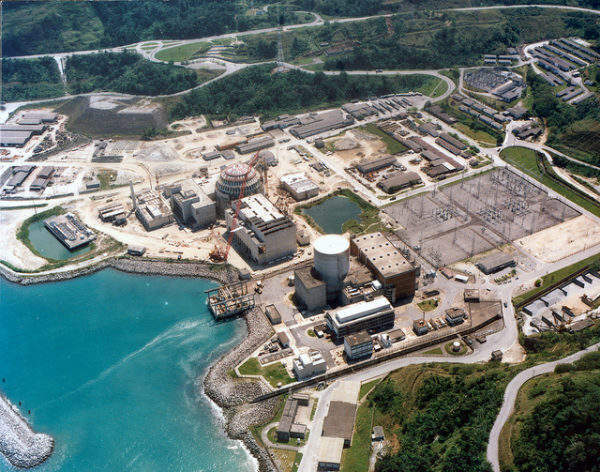 Angra nuclear power plant under construction in Brazil (Source IAEA, Credit: FURNAS Centrais Electricas)