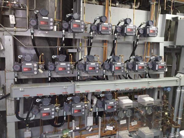 Liquid zone control valves at Pickering