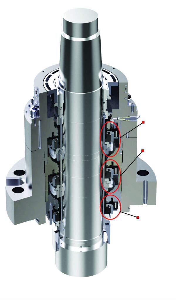 Flowserve N-seal cutaway