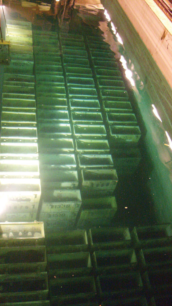 Skips within the fuel ponds