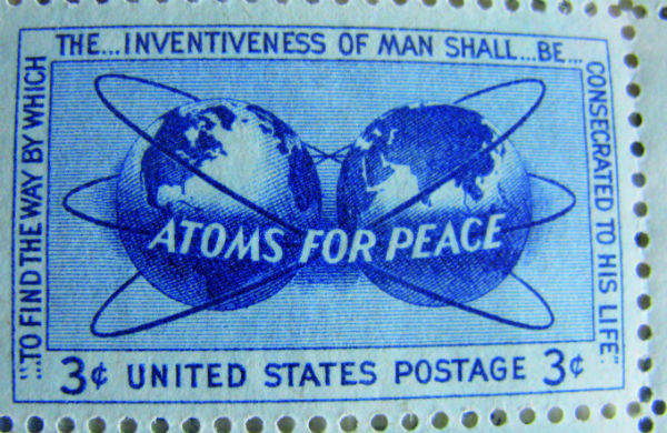 Russian stamp issued to commemorate Atoms for Peace