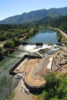 Dam and pumping plant