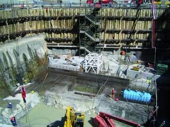 Powerhouse foundation steelwork