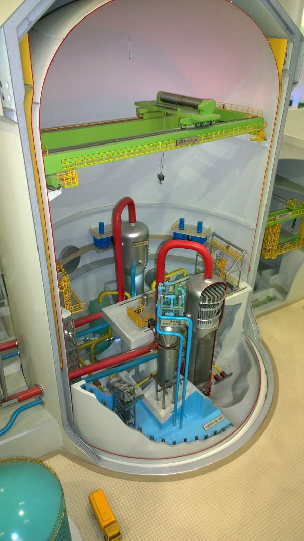 Model of the Chinese CAP1400 reactor design, which is due to begin construction in 2014