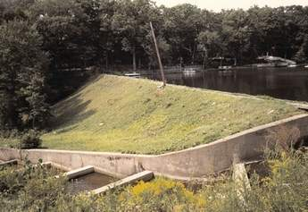 Cupsaw Lake dam before