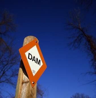 Dam sign