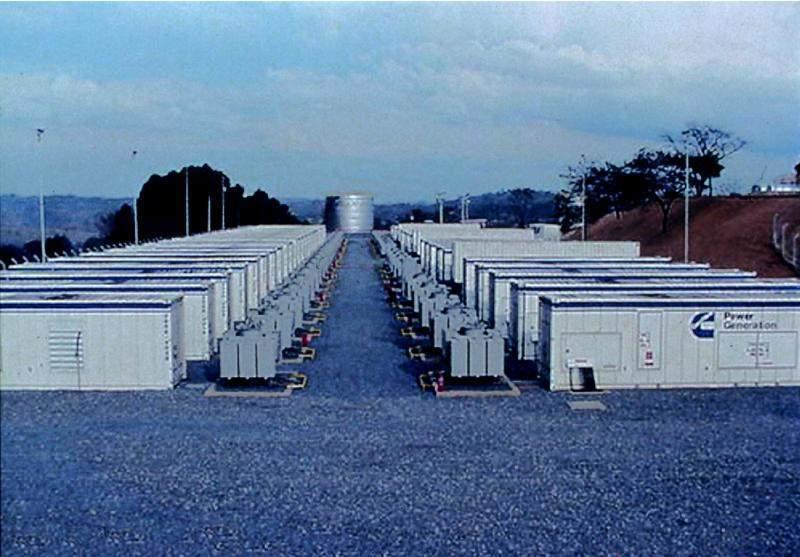 A 64 MW emergency power station