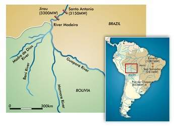 Figure 3 - The Madeira scheme's two project sites