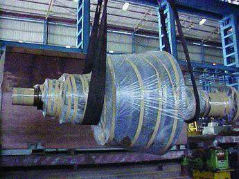 Figure 9. The rotor fully refurbished and ready for dispatch