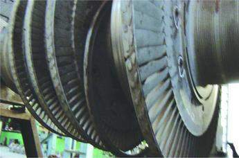 Figure 1. Original disc head cut away in preparation for weldability test