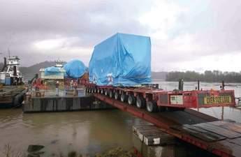 Port Westward barge