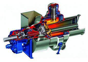 Cutaway of OP16 gas turbine