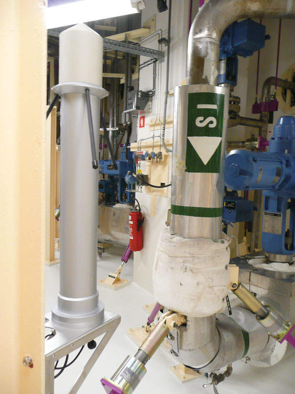New detector by safety injection piping in the auxiliary building