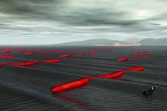 Pelamis - artist impression of a full scale 'wavefarm'