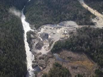 spillway and intake