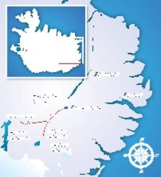 Karahnjukar  location map