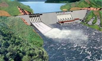 Artist's impression of Son La hydropower project in Vietnam