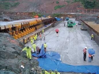 Full scale trial embankment No.2 at Son La RCC dam site