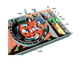 Artist impression of the Ringhals 2 main control room