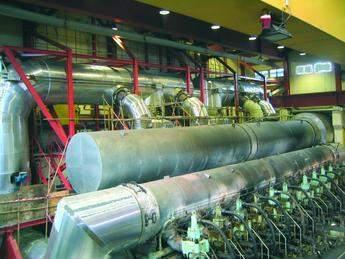 Twin reactor inside engine hall