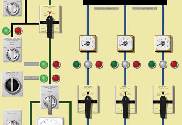 Tihange 1 virtual panel display (detail)