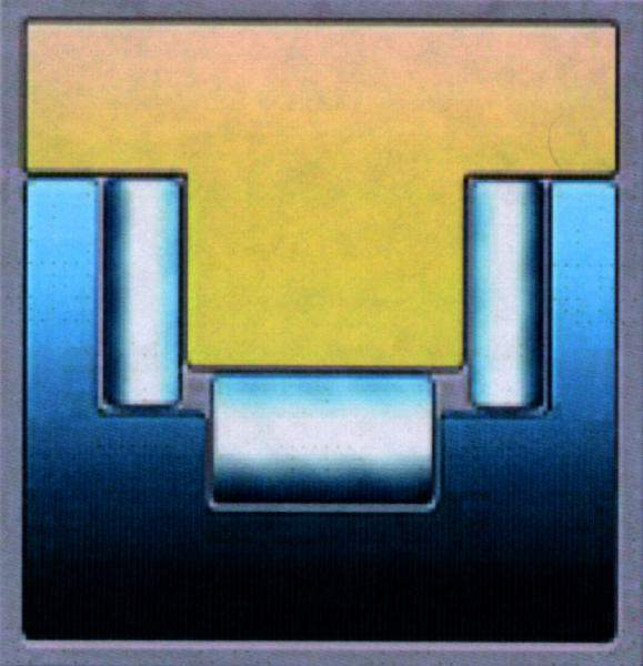 Inset showing three-roller bearing