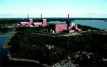 Visualisation of Olkuluoto 3 PWR, with units 1 & 2 (BWRs) in the background