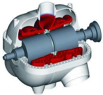 Saturated steam high pressure turbine
