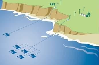 Wave energy converter layout