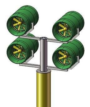 Four turbines