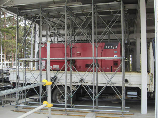 Emergency diesel generator delivered to the Fukushima Daiichi site in February 2013 (Source: TEPCO)