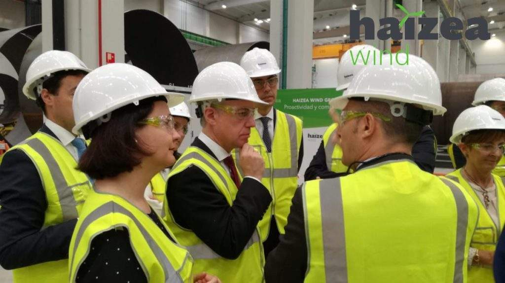 Haizea Wind inaugurates wind tower and offshore foundation manufacturing plant in Spain