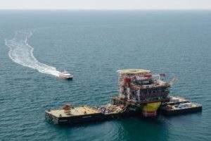 Lukoil installs wellhead platform topside for Yury Korchagin phase 2 project