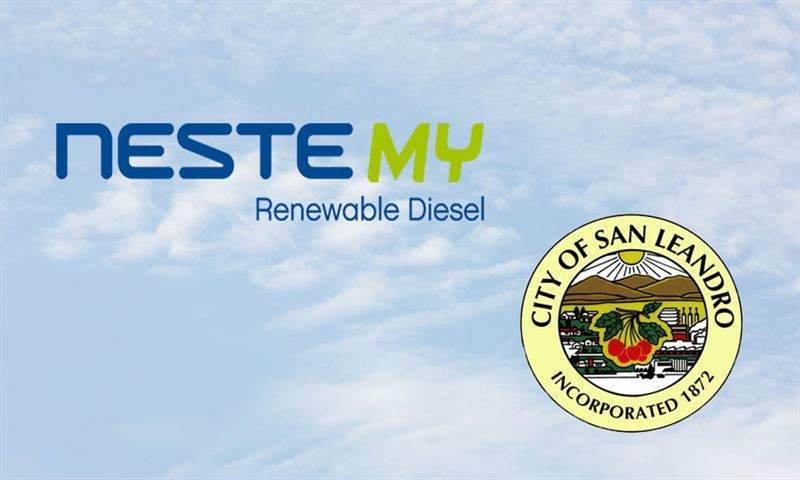 City of San Leandro to use Neste's MY Renewable Diesel for municipal vehicles