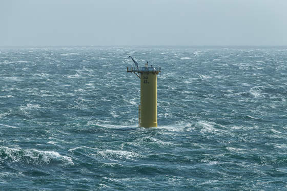 Sandbank offshore wind farm-foundation