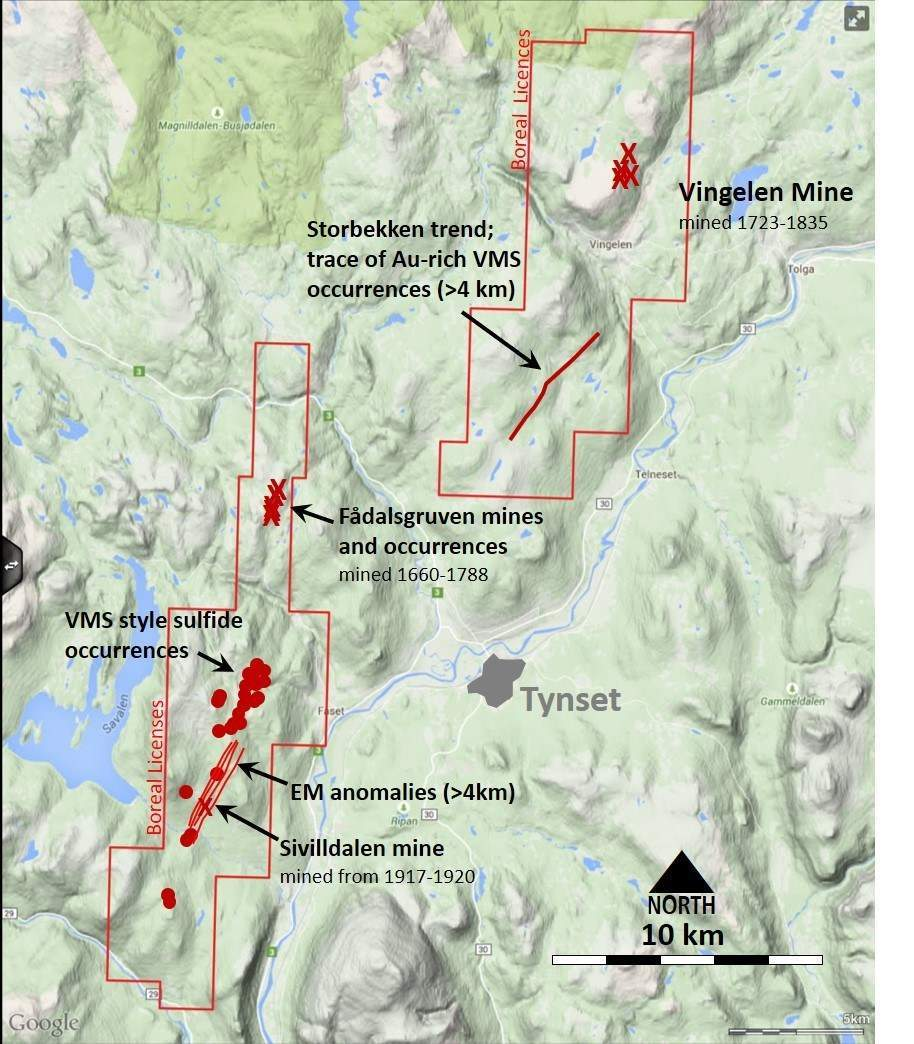 Boreal Metals-Boreal Commences Exploration Programs at Tynset VM