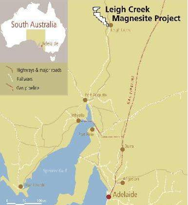 Leigh Creek Magnesite Project