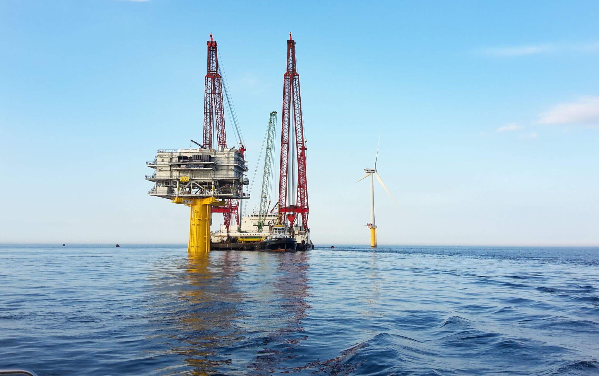 Northwester 2 offshore wind farm-platform