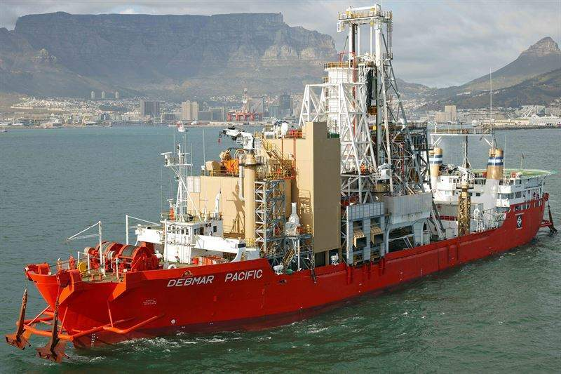 De Beers' diamond mining vessel