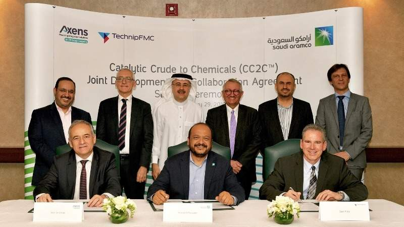 Saudi Aramco, TechnipFMC and Axens advance catalytic crude to chemicals technology