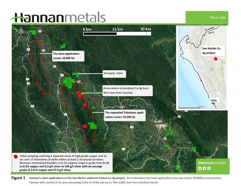 Hannan Metals Ltd--Hannan Doubles Land Position at the San Marti