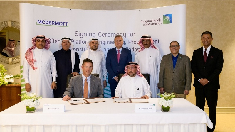 Saudi Aramco, McDermott sign agreement to set up fabrication facility