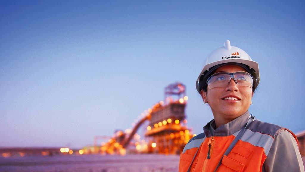 bhp women in mining